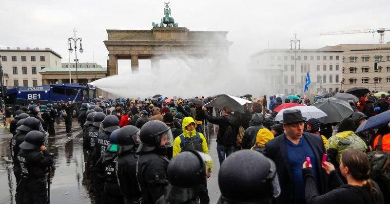As the German lockdown movement continues to grow, wild claims of Nazi-era laws and Anne Frank...